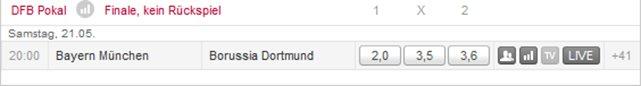 Bayern gegen Dortmund Quoten