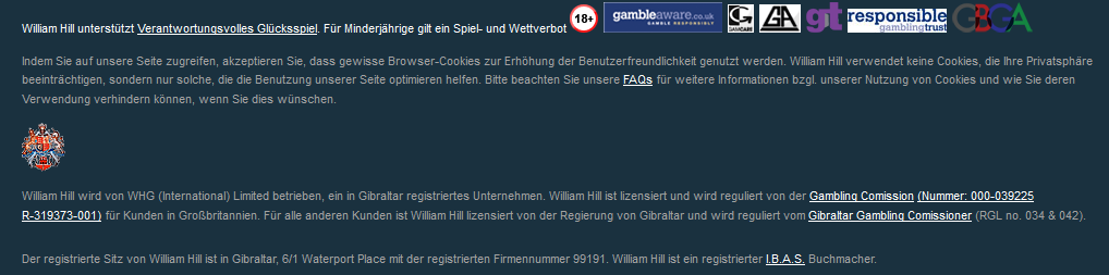 William Hill Sicherheit