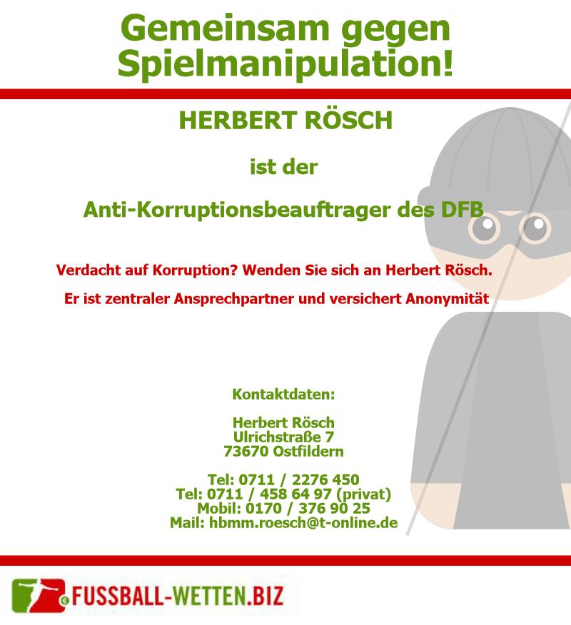 Herbert Rösch ist eine der Anlaufstellen des DFB wenn es um Korruptionsverdacht geht.