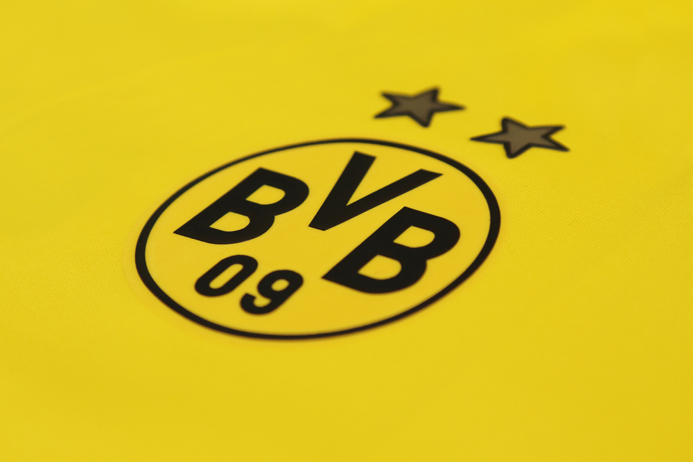 Das schwarz gelbe Logo des Bundesligisten Borussia Dortmund